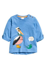 Long-sleeved T-shirt - Blue - Kids | H&M 1