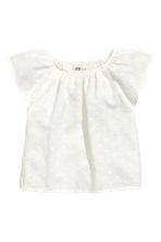 Blouse with butterfly sleeves - White - Kids | H&M 2