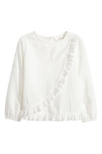 Frilled blouse - White - Kids | H&M 2