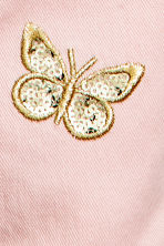 Embroidered twill trousers - Light pink - Kids | H&M 5
