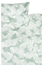 Patterned duvet cover set - Dusky green - Home All | H&M CN 2