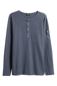 Waffled Henley shirt