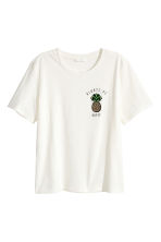 T-shirt with a motif - Natural white/Pineapple - Ladies | H&M CN 2