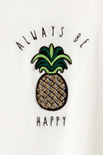 T-shirt with a motif - Natural white/Pineapple - Ladies | H&M CN 3
