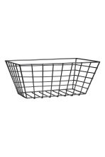 Small metal wire basket - Black - Home All | H&M CN 1