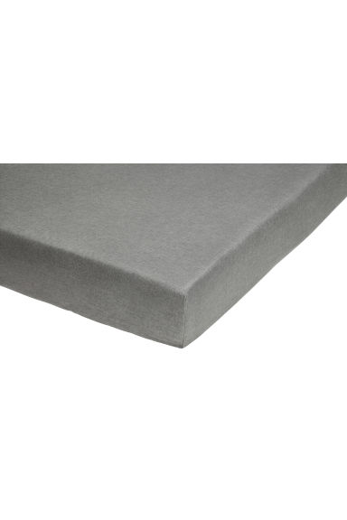 Washed linen fitted sheet - Grey - Home All | H&M CN 1