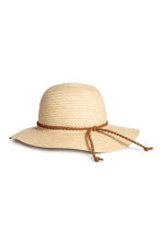 Straw hat - Natural - Kids | H&M CA 1
