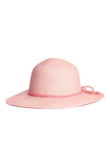 Straw hat - Light pink/Glittery - Kids | H&M 1