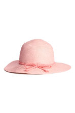 Straw hat - Light pink/Glittery - Kids | H&M 2