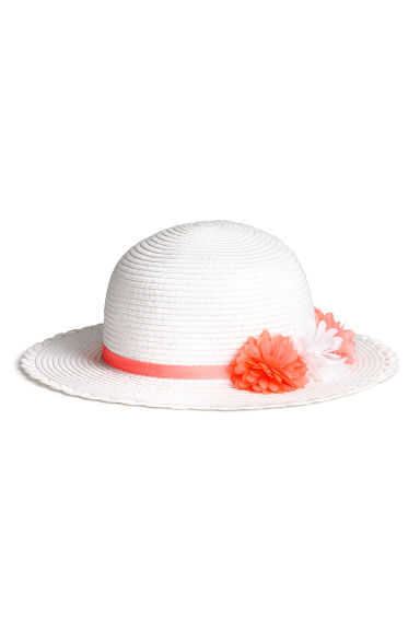 Straw hat - White -  | H&M CA 1