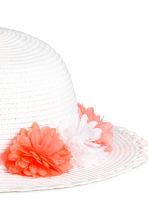 Straw hat - White -  | H&M CA 2