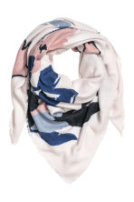 Patterned shawl - Natural white/Floral - Ladies | H&M 1