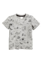 Lot de 2 T-shirts - Gris chiné -  | H&M FR 2