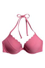 Push-up bikini top - Dark pink - Ladies | H&M 2