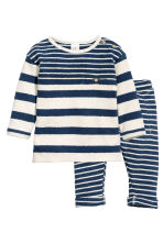 Top and trousers - Dark blue/Striped - Kids | H&M CN 1