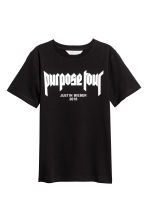 Printed T-shirt - Black/Justin Bieber - Kids | H&M 2