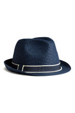Straw hat - Dark blue -  | H&M 2