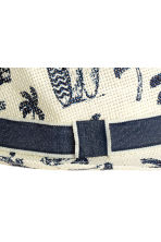 Straw hat - Natural white/Palms -  | H&M CA 2