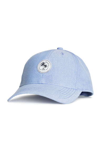 Cotton cap with embroidery - Light blue - Kids | H&M 1
