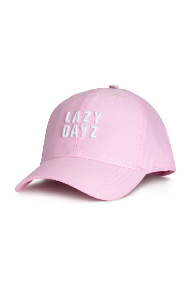 Cotton cap with embroidery - Light pink -  | H&M CN