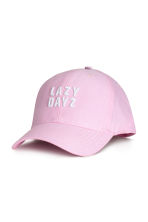 Cotton cap with embroidery - Light pink - Kids | H&M 1