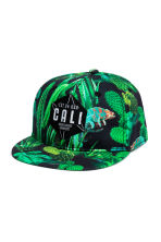 Cap with appliqués - Black/Cactus - Kids | H&M CN 1