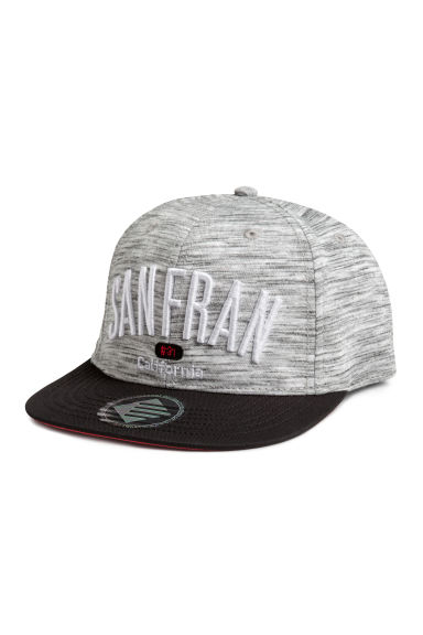 Cap with appliqués - Grey/San Francisco -  | H&M CN 1