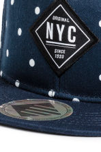 Cap with appliqués - Dark blue/Spotted -  | H&M 2