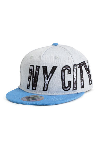 Cap with appliqués - Light grey/New York -  | H&M 1