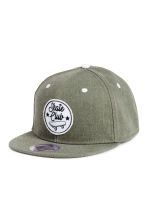 Cap with appliqués - Khaki green - Kids | H&M CN 1