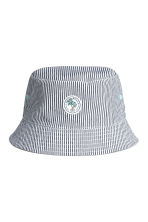 Cotton fisherman's hat - Dark blue/Striped -  | H&M 1