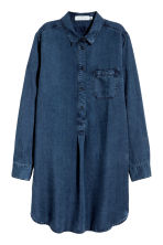Lyocell tunic - Dark denim blue - Ladies | H&M 2