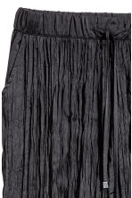 Crinkled ankle-length trousers - Black - Ladies | H&M 3