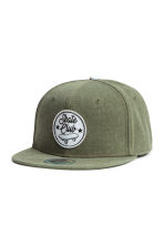 Cap with a motif - Khaki green -  | H&M 1