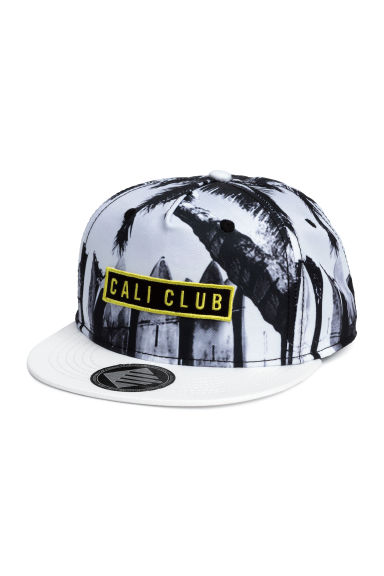 Cap with a motif - White/Black -  | H&M 1
