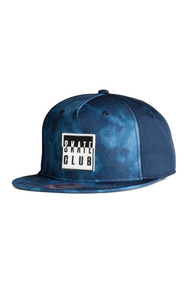 Cap with a motif - Dark blue/Blue -  | H&M 1