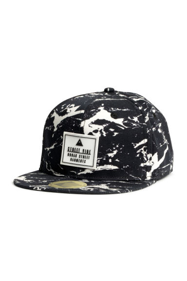 Cap with a motif - Black/White -  | H&M CN 1