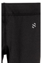 Sports tights - Black -  | H&M CN 4