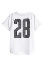 Short-sleeved sports top - White -  | H&M 3
