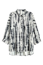 Wide shirt - Light grey/Patterned - Ladies | H&M 2