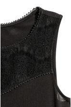 Sleeveless top with lace - Black - Ladies | H&M CN 3