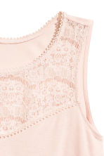 Sleeveless top with lace - Powder pink - Ladies | H&M CN 3