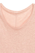 Linen round-neck top - Powder pink - Ladies | H&M 3
