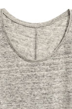 Linen round-neck top - Grey marl - Ladies | H&M 3