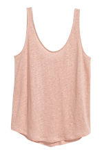 Linen jersey vest top - Powder pink - Ladies | H&M CN 2