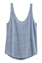 Linen jersey vest top - Blue-grey - Ladies | H&M 2