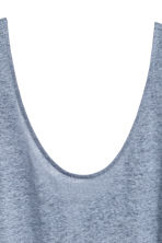 Linen jersey vest top - Blue-grey - Ladies | H&M 3