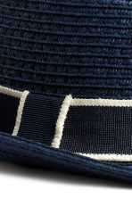 Straw hat - Dark blue - Kids | H&M CN 3