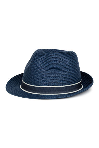 Straw hat - Dark blue - Kids | H&M CN 1