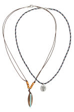 2-pack necklaces - Dark blue/Brown - Kids | H&M 1